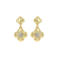 DOUBLE CLOVER POST EARRING