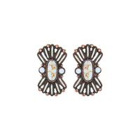 WESTERN DESIGN STONE EARRINGS
