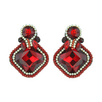 SQ FELT BACK DROP EARRING