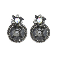 RND FELT BACK DROP EARRING