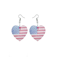 FISH HOOK FLAG EARRING