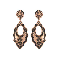 INDIAN COIN MARQUISE DESIGN POST EARRINGS