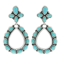 WESTERN STYLE TURQUOISE EARRINGS