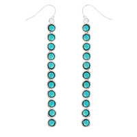 WESTERN ACRYLIC STONE EARRINGS - BAR