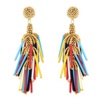 FASHION BOHEMIAN SEED BEAD BRIGED EARRINGS