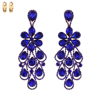 PEACOCK MIRRORED RHINESTONE CLIP ER