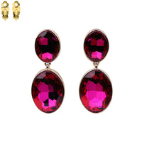 Two Dangly Oval Gem EARRINGS Ecq15Gfu
