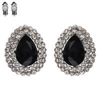 Teardrop Gem Clip Earrings Ecq4Rbk