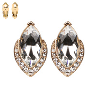 MARQUIES SHAPED STONE CLIP EARRING