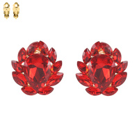 STATEMENT GEM STONE CLIP EARRING