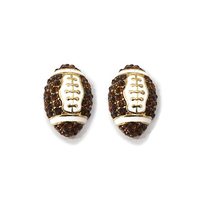 Stone Encrusted Football Stud Earrings El115