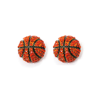 Stone Encrusted Basketball Stud Earrings El116