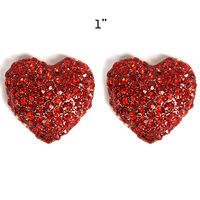 RED DESIRED HEART SHAPPED POST EARRINGS