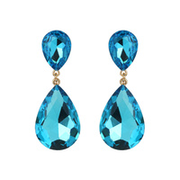 Dangly Teardrop Gem Earrings Eq148Gaq