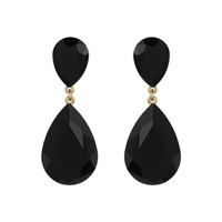 Dangly Teardrop Gem Earrings