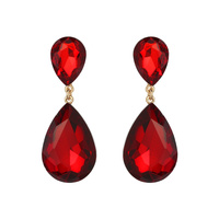 Dangly Teardrop Gem Earrings Eq148Grd