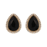 Teardrop Stud Earrings Eq153Gbk