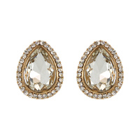 Teardrop Stud Earrings Eq153Gbz