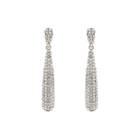 RHINESTONE DROP DANGLE POST EARRING