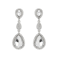 ALLURE RHINESTONE TEARDROP EARRINGS