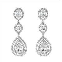 LONG RHINESTONE POST EARRING