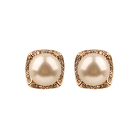 Pearl With Stones Stud Earrings Ewq15Gcr