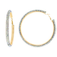 8CM RHINESTONE HOOP EARRINGS