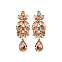 Marquise Gem Leaf Cluster With Dangly Teardrop Earrings 3