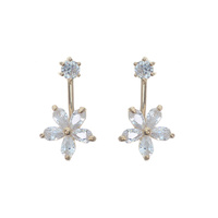 CUBIC FLOWER POST EARRING