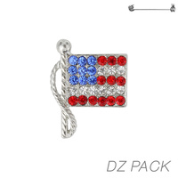 Flag0019S Patriotic Stone Flag Pin