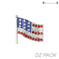 Flag0023S Patriotic Stone Flag Pin