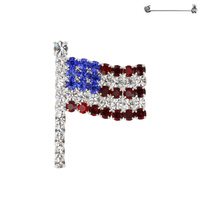 Flag0027S Patriotic Rhinestone Flag Pin