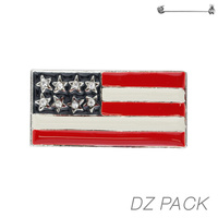 Flag0032S Patriotic Enamel Flag Pin