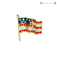 Flag0036G Patriotic Stone Flag Pin
