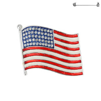 Flag0037S Patriotic Enamel Flag Pin