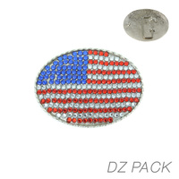 DZN OVAL FLAG BELT BUCKLE