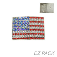 DZN RECTANGLE FLAG BELT BUCKLE