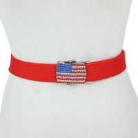 BELT W/ FLAG BUCKLE