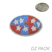 DZN OVAL TEXAS THEME FLAG BUCKLE