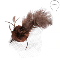 FEATHER HEADBAND W/LONG FEATHER