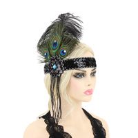 FLAPPER PEACOCK GATSBY SEQUIN BEAD