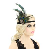 FLAPPER 1920S GATSBY PEACOCK FLOWER
