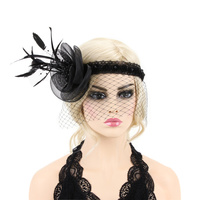 MESH FLOWER VEIL 20 GATSBY HAIRBAND