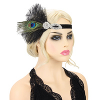 PEACOCK FEATHER FLAPPER 20S GATSBY