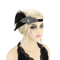BEADED FEATHER 1920S FLAPPER GATSBY