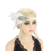 BLING SIDE FEATHER 20S GATSBY HAIR