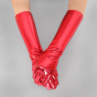 Metallic Elbow Length Gloves