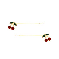 2 PC CHERRY BOBBY PIN