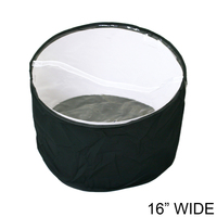 Collapsible Fabric Hat Bag With Clear Vinyl Top And Handle Hatbagbk