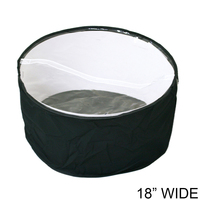 Collapsible Fabric Hat Bag With Clear Vinyl Top And Handle Hatbagbkm